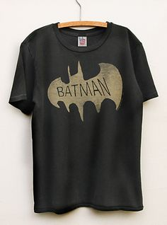 Toddler Boys Batman Vintage Inspired Solid Tee