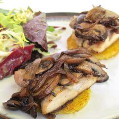 Chicken and Mushroom Polenta Sandwiches {Gluten Free}