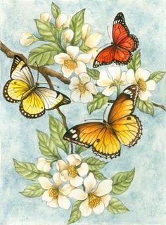 Decoupage Fauna and Flora are two terms frequently heard by people who spend amount of time in nature. Butterfly Pictures, Butterfly Cards, Butterfly Tree, Butterfly Painting, Decoupage Paper, Arte Floral, Counted Cross Stitch Patterns, Cross Patterns, Beautiful Butterflies