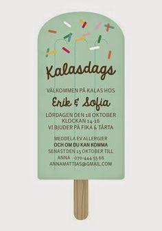 Bildresultat för inbjudningskort barnkalas glass