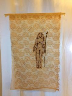 Miriam García. Semillera (Seed Woman), 2017 / Textil Bordado.