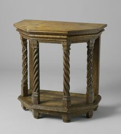 Gothic table Gothic Furniture, 16th Century, 3d Design, Woodworking Tools, Renaissance, Entryway Tables, Medieval, Objects, English