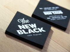 Print Carte de Visite  The new black