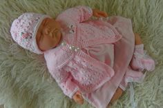 knitting pattern dk to knit girls matinee by KnittedBabyBoutique, £2.95