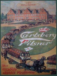 Carlsberg Retro Advertising, Vintage Advertisements, Vintage Ephemera, Vintage Ads, Beer Poster, Belgian Beer, Beer Brewery, Old Ads, Vintage Travel Posters