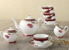 Red Bamboo Leaf Tea Set (15 Pcs)