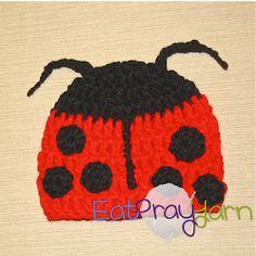 Little Lady Bug Beanie free crochet pattern Crochet Animal Hats, Crochet Kids Hats, Crochet Cap, Crochet Baby Clothes, Cute Crochet, Crochet Hooks, Crocheted Hats, Crochet Ladybug, Baby Hut