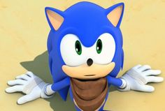 Is It Just Me Or Is Sonic SO Cute In This Pic