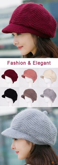 US$12.48+ Free shipping. Style: Octagonal Cap, Beret Cap. Fall in love with casual and elegant style! Women Wool Knitted Warm Octagonal Cap Solid Flexible Casual Hats.