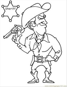 free printable coloring image cowboy coloring book page 07