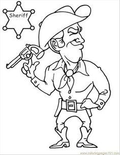 Free Printable Coloring Image Cowboy Book Page 07