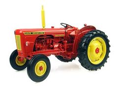 This David Brown 990 Implematic (1961) Diecast Model Tractor is Red and features working linkage, steering, wheels. It is made by Universal Hobbies and is 1:16 scale (approx. 16cm / 6.3in long).  ...