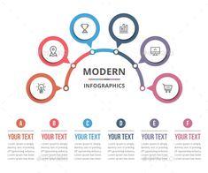 Circle Infographic, Infographic Resume, Infographic Templates, Flow Chart Design, Diagram Design, Education Templates, Powerpoint Design Templates, Timeline Design, Presentation Layout