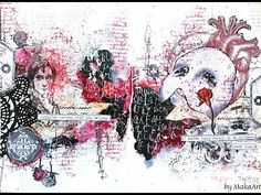 "My journey through the Scrapbookworld...: Art Journal Page ""The Phantom of the Opera"""