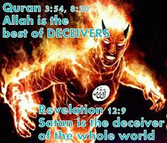 """The Quran admits that Allah is Satan & The """"BIBLE"""" Confirms it in Scripture. We will Not get rid of Islam, Only Christ Will when He Comes Back. It's Biblical prophecy Moslem, Revelation 12, Trust, Religion, Muslim Brotherhood, Thing 1, Atheism, Satan, Christianity"""