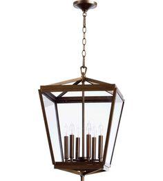 Quorum International Kaufmann 6 Light Foyer Light in Oiled Bronze 6604-6-86 #lightingnewyork #lny #lighting