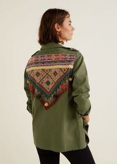 Bead embroidered overshirt