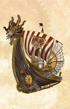 viking steampunk | Steampunk Viking Ship by DarkPrincessLauren