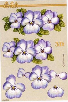 Decoupage 3D One Stroke Painting, Tole Painting, Fabric Painting, Painting & Drawing, 3d Paper Crafts, Paper Art, Image 3d, 3d Art, Decoupage Printables