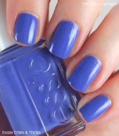 Essie Chills & Thrills. Just got this today and I would describe it as a blue-violet color.