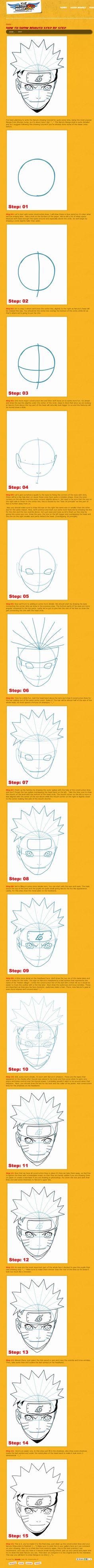 How to Draw Naruto Tutorial by Naruto Sketch Drawing, Naruto Drawings, Naruto Art, Anime Sketch, Manga Drawing, Itachi, Gaara, Manga Tutorial, Sketches Tutorial