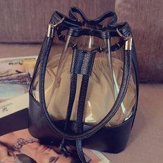 Small bags 2016 beach jelly bag patchwork transparent bucket bag messenger bag…