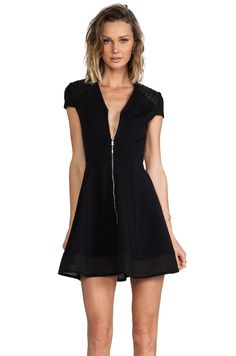 Cut25 by Yigal Azrouel Zipper Front Ponte Dress in Black