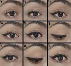 winged eyeliner steps - Google Search