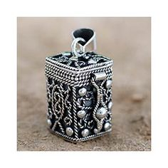 Sterling Silver 'Prayer Box' Locket Pendant (India) Buy Link: http://www.overstock.com/Worldstock-Fair-Trade/Sterling-Silver-Prayer-Box-Locket-Pendant-India/6782811/product.html?refccid=OHEGAW7A56C2XE2GCADDM5KYEA&searchidx=411