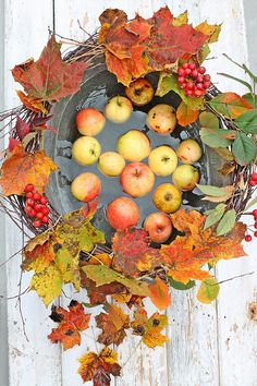 Apples and Fall Leaves FROM: VIBEKE DESIGN