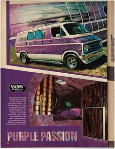 """Purple Passion"" custom 70's Dodge van"