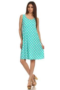 Sleeveless Mix Print A-Line Tunic Dress