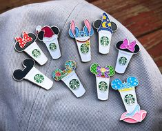 Mickey Starbucks Cup Enamel Pin, Daisy Duck Starbucks, Minnie Mouse Starbucks, Christmas Starbucks, Disney Pins things Castle Coffee Cups (Various Styles) Walt Disney, Disney Cute, Deco Disney, Disney Style, Disney Mickey, Cute Disney Stuff, Kawaii Disney, Disney Toms, Mickey Minnie Mouse