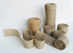 Burlap Ribbon Rolls - Pick Your Width - 10 Yards - Country Rustic Wedding - Burlap Wedding Decor by MimisCountryBoutique, $4.50