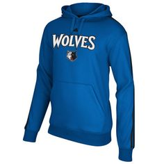 Minnesota Timberwolves adidas 3-Stripe Tackle Twill Fleece Hooded Sweatshirt #timberwolves #twolves #nba