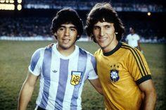 Maradona Vs Zico ● Brasil x Argentina ● The First Date Argentina Football Team, Brazil Football Team, Football Icon, Best Football Players, Good Soccer Players, Adidas Football, World Football, Soccer World, Football Soccer