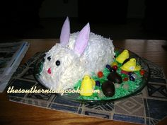 EASY EASTER BUNNY CAKE | The Southern Lady Cooks