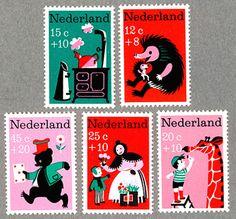こちらも切り絵調のオランダの切手です。