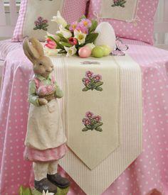 Frühlings - Tischband Design : Gerlinde Gebert Shop: www.gebert-handarbeiten.de