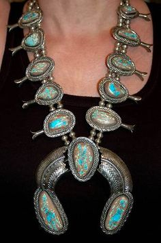 Gorgeous squash blossom necklace