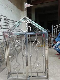 Steel Railing Design, Steel Furniture, Steel Doors, Railings, Door Design, Temple, Stainless Steel, Metal, Ideas