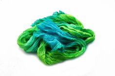 silk scarf Sea Green   blue green emerald green mint by valezhki, $35.00
