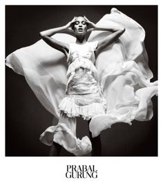 Prabal Gurung tapped Joan Smalls for its spring 2013 campaign. Lensed by Daniel Jackson, Joan poses in black and white studio images reflecting a sense of liberation and ease. Daniel Jackson, Catherine Mcneil, Joan Smalls, Fashion Advertising, Advertising Campaign, Ads, Creative Advertising, Rosie Huntington Whiteley, Kate Moss