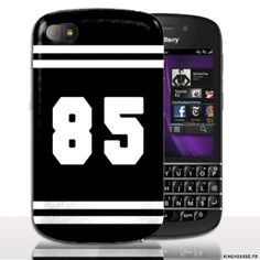 Coque BlackBerry Q10 | Design Numero 85 | Coque de protection arriere