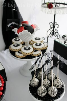 """Photo 4 of 15: Roaring 20's / Birthday """"Roaring 1920's Black, White and Red Dessert Table"""" 