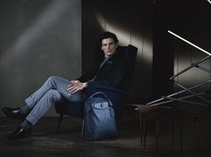 Navy, Petrol and Royal - decisive shades for a sophisticated look  #CanaliFW15 #blue #jacket #menswear