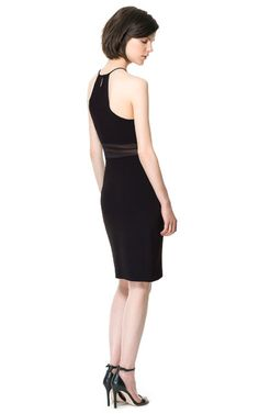 Image 3 of PLAIN STUDIO DRESS WITH SHEER WAIST from Zara