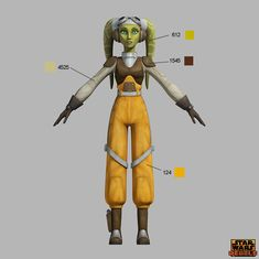 Star Wars Rebels Costume Color Guide for Padawans, Twi'leks, and More