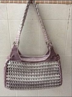 Pop Tab Crafts, Diy Crafts, Soda Tabs, Top Pattern, Couture, Purses And Bags, Upcycle, Handbags, Knitting