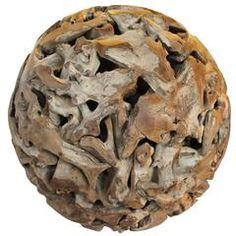Organic Massive Root Teak Ball